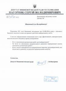 Депутатський запит про дитячі майданчикі